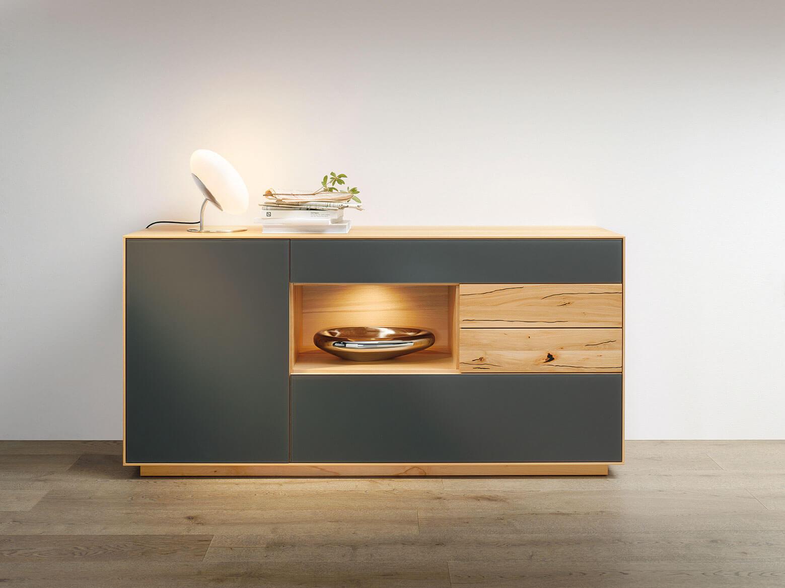 Sideboard Schwarz Holz Affordable Details Zu Massiv Holz Sideboard
